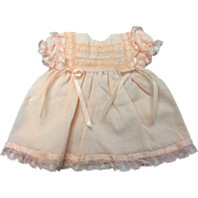 Apricot Cotton Dolls Dress
