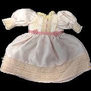 Rose Silk Dolls Dress