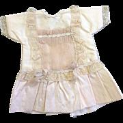 Pink Silk & Net Small Dolls Dress