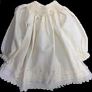 Cream Viyella Smocked & Embroidered Dress