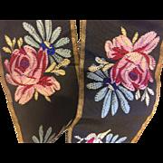 Beautiful Victorian Silk Taffeta Ribbon with Metallic Edge