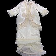 Beautiful Elaborate Cream Satin Dress
