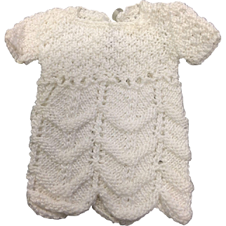 Little White Knitted Dress