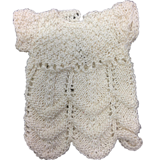 Small Cream Knitted Doll Dress