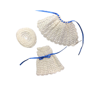 Crocheted Dress, Cloak & Hat for Small Doll or All Bisque