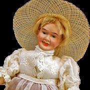 "8"" Dressel  Character Portrait Witch/ Farmer key wind doll"