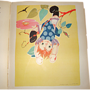 Raggedy Ann Doll Book~ RAG-DOLL JANE ~12 Art Deco Illustrations ~ 1935