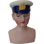 Dollhouse Man Chauffeur~ Police~ Captain~  Head only