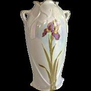 "Nouveau~Iris  Iridescent With Gold~ Heubach Bros.  ""IRIS""  Vase"