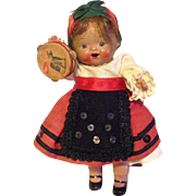 All bisque Toddler 5.5 inch All Original Ethnic costume ~ CUTE!!!