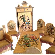 German Luxury Parlor Suite of dollhouse furniture~ Mini