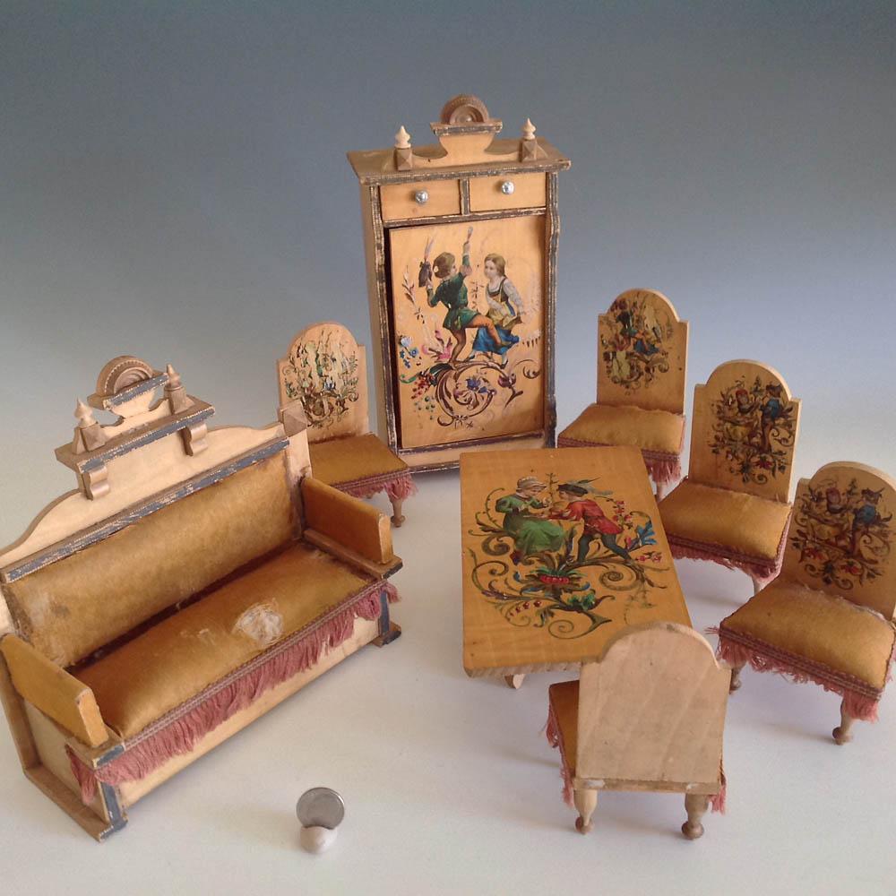 German Luxury House: German Luxury Parlor Suite Of Dollhouse Furniture~ Mini