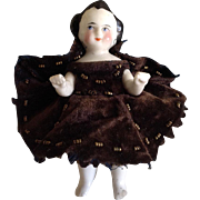 "Darling Frozen Charlotte Antique China Pen Wipe Doll~ 4""~"
