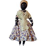 "Antique Brazilian folk art  ""Bahia Woman "" black cloth  doll~ Amazing!"