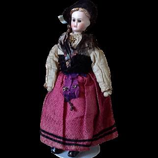 French Lady~ Jules Verlingue~Silk regional costume~ 8 inch