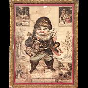 Santa Claus ~Oriental Prints Works ~Framed