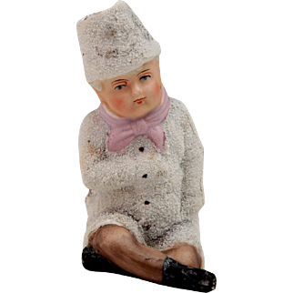Large Snow baby~ Boy with hat & pink scarf
