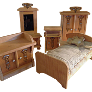 Art Nouveau ~Miniature Bedroom Set ~Ormalu & wood~