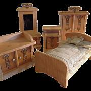 German Luxury Parlor Suite Of Dollhouse Furniture Mini