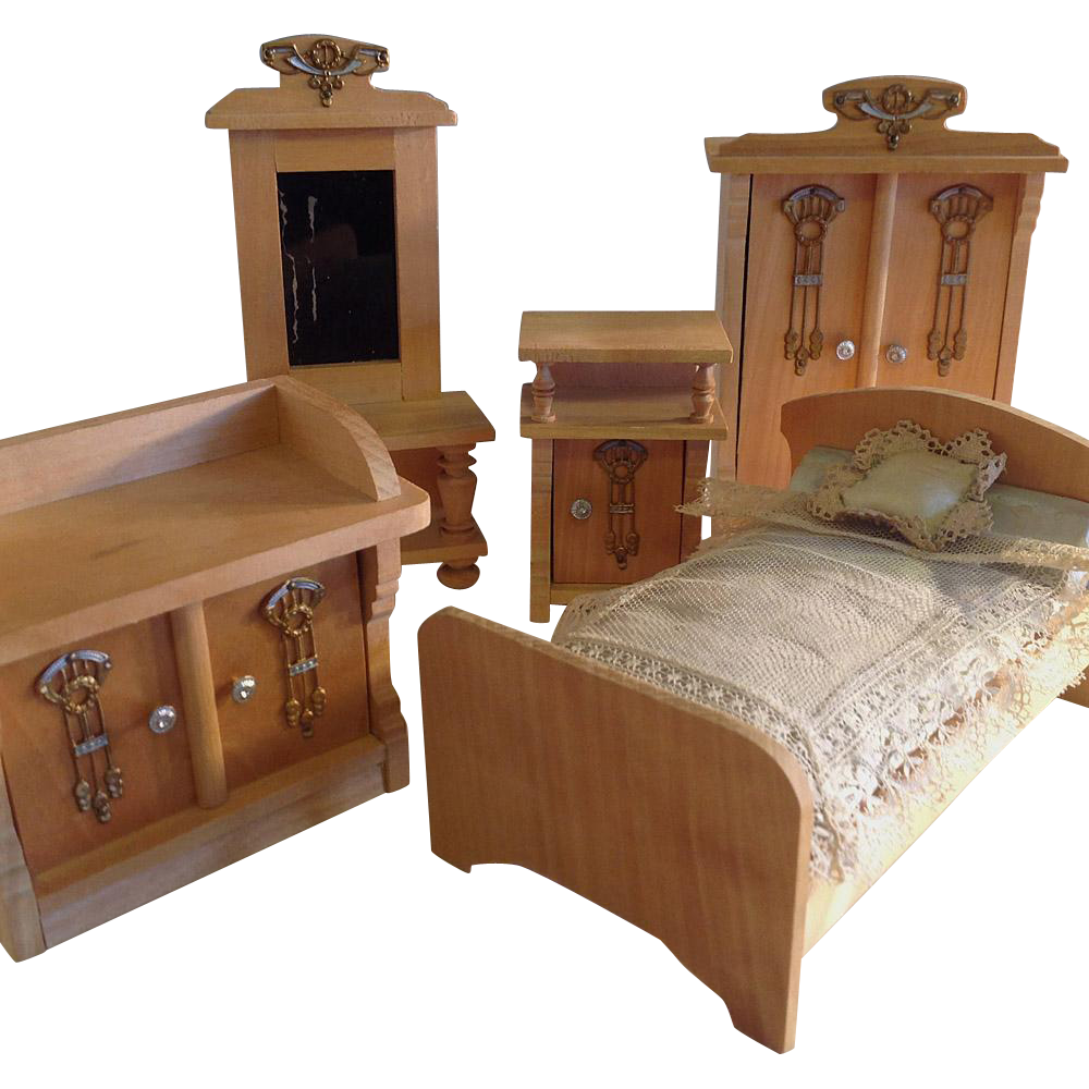 Art Nouveau ~Miniature Bedroom Set ~Ormalu & Wood