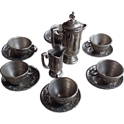 Antique Chocolate Service for Dollhouse~ Pewter