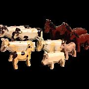 Old Wood farm animals~ Ark ~ Barn or Farm~ Miniature