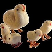 Easter~ chicks, spun cotton MIJ~ Germany  Egg~Sweet!