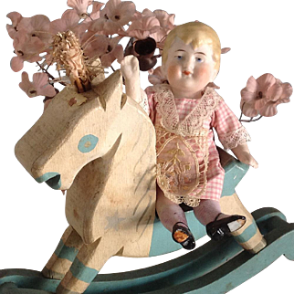 """5 1/2"""" All bisque~ Hertwig German doll"""