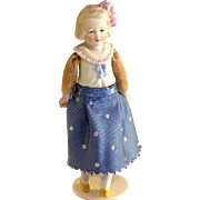 6.5 inch Hertwig Half bisque~ Character Family~ Girl with Yellow shoes