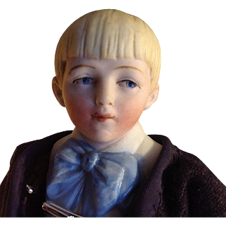 Hertwig~ Character Family~  Boy ~ Half-Bisque 6.5 inches