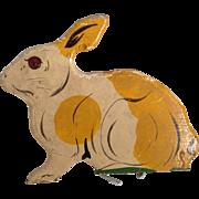 Painted Rabbit Wooden Silhouette~ Nice, Old Folk Art