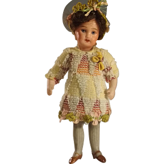 SFBJ~    French~ All Bisque Mignonette~ 4.5 inch~ Long Stockings~
