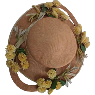 Designer Straw Hats~ Old & Charming~ Flowers and Bows