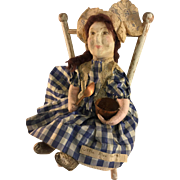 Miss Muffet~ WPA Art Doll~  12.5 inch Charming!