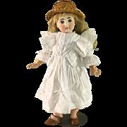 White Batiste Doll Dress~ 10.5 inch length