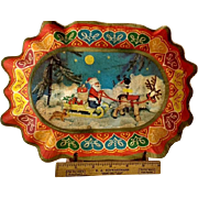 Steiff Santa Cookie plate~ Bright, Strong paper~