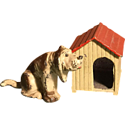 Mini~ Doghouse~ Depose France with Hound dog ~metal~