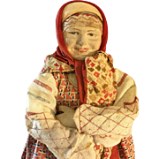 "Russian Peasant doll~ Cloth Character ~ 14.5""~"