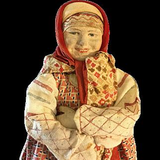 "Russian Peasant doll~ Cloth Character ~ 14.5""~"