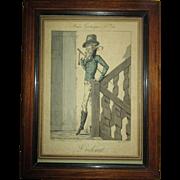 Musee de Grotesque, L' Odorat, Paris, Chez Aaron Martinet, 1817