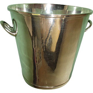 VIntage Mexican Sterling SIlver Champagne or Ice Bucket, Signed Ortega, Taxco