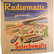 Radiomatic Automobile Radio Poster