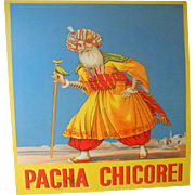 Circa 1920 Pacha Chicorei Lithographic Advertising Poster