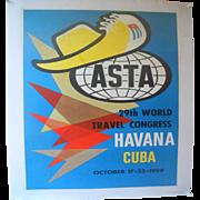 ASTA 29th World Congress Havana Cuba Poster