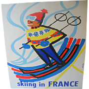 Skiing in France Original French 1959 Ski Poster