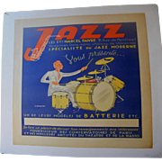 Jazz Musical Instrument Poster Circa 1930