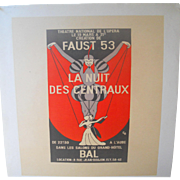 Faust 53 National Theatre of Opera French Poster