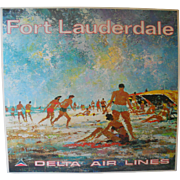 1975 Delta Air Lines Fort Lauderdale Poster