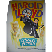 Safety Last! Harold Lloyd 1923 German Movie Poster
