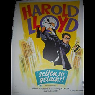 Safety Last! Harold Lloyd 1923 German Movie Poster